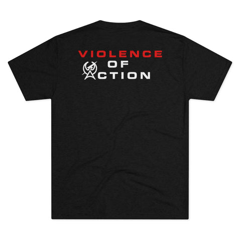 Charcoal Black Men's Violence Of Action Tri-Blend Tee