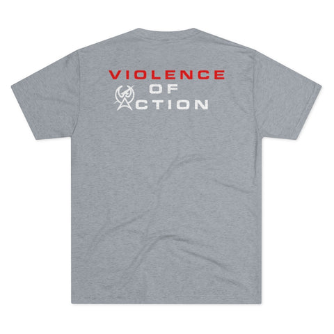 Destroyer Grey Men's Violence Of Action Tri-Blend Crew Tee