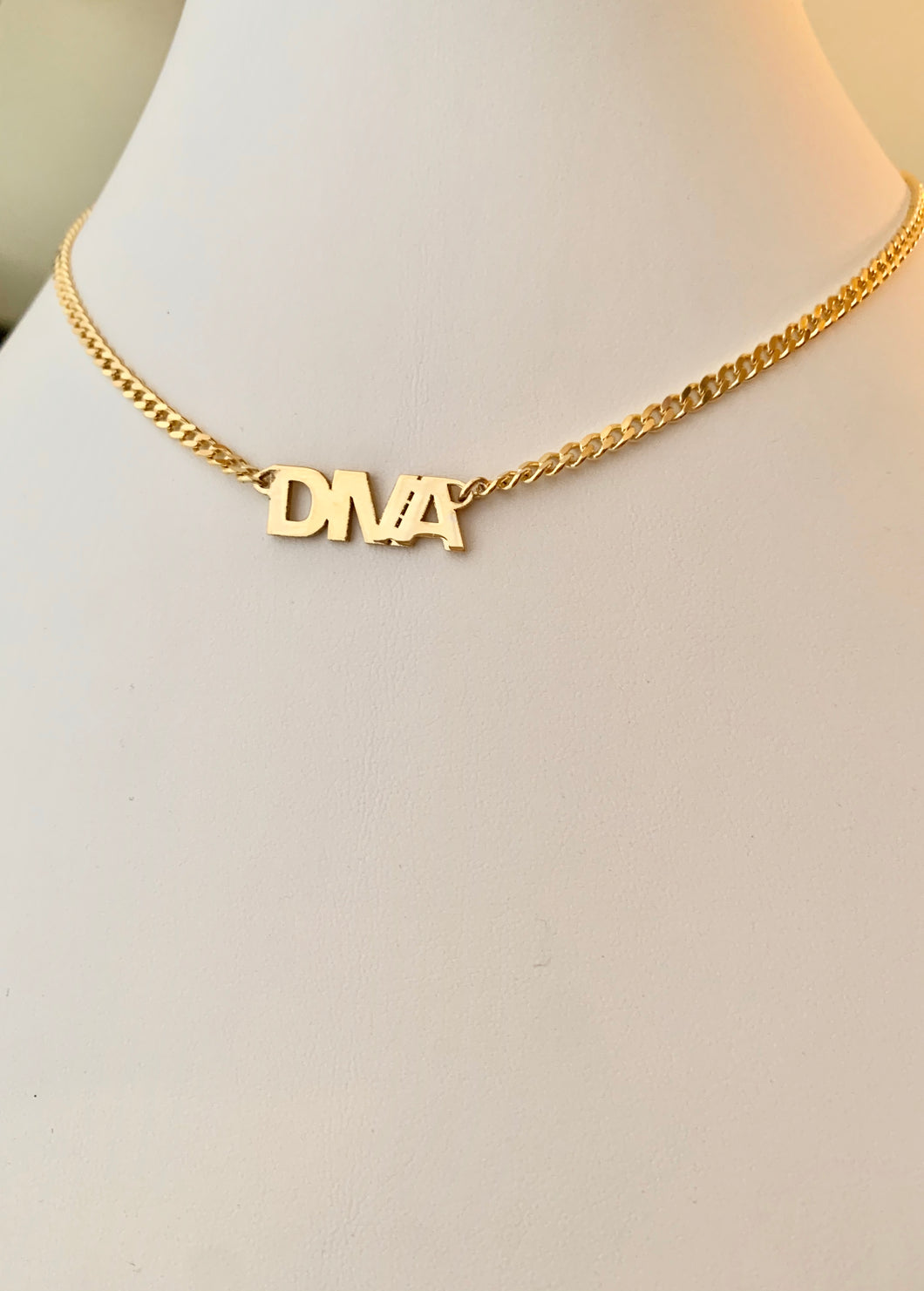 Personalized Diva Font Necklace