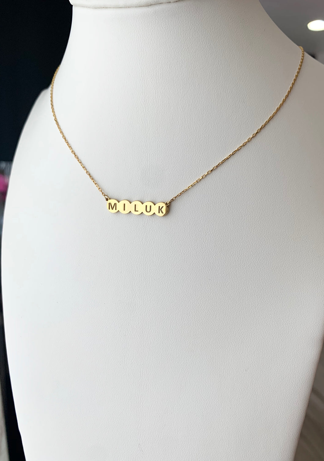 Bubble Name Necklace