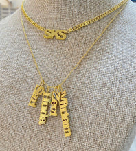 Load image into Gallery viewer, Vertical Names Personalized Necklace