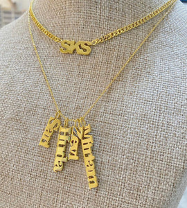 Vertical Names Personalized Necklace
