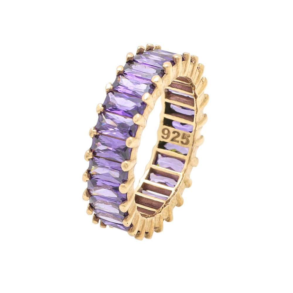 Baguette Ring Purple