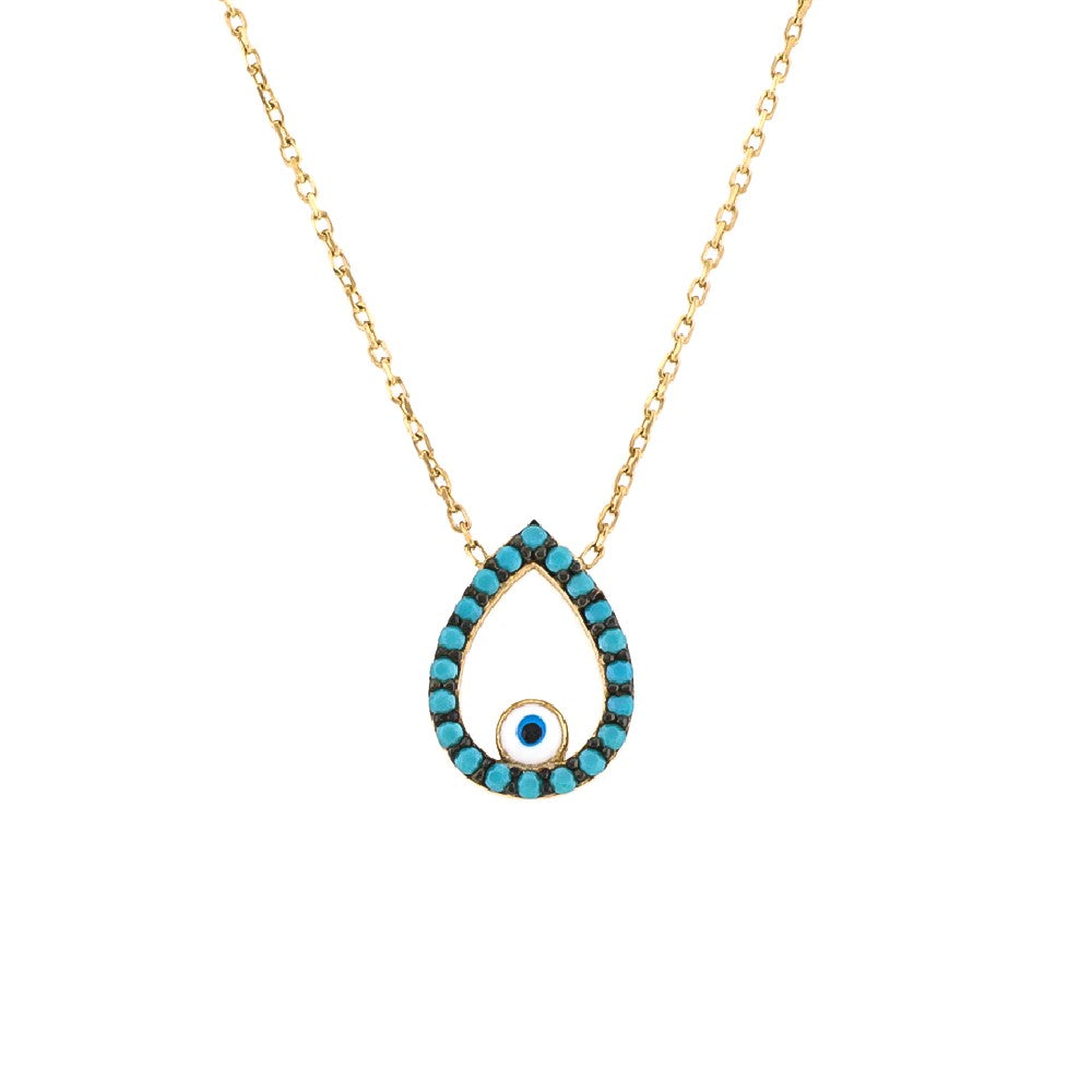 Teardrop necklace Turquoise