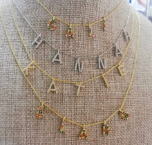 Load image into Gallery viewer, CZ Personalized necklace