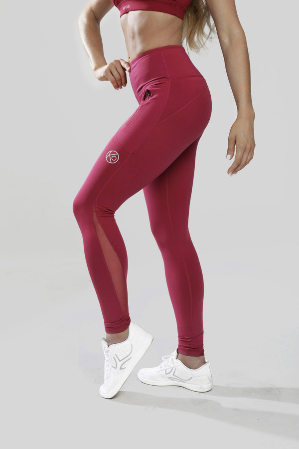 Leggins Fortaleza - Granate