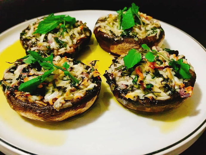 Stuffed Portobello Mushrooms (Keto, Low Carb, Paleo & Vegan)