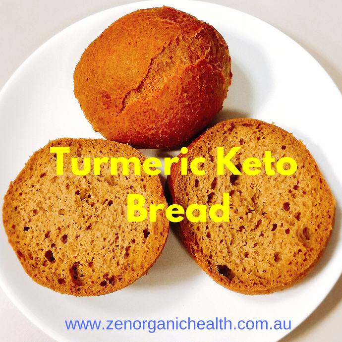 Turmeric Keto Bread (Low Carb, Paleo, Gluten Free & Yeast Free)
