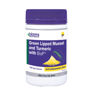 Blooms Green Lipped Mussel 500Mg Turmeric With Biop 100Vc