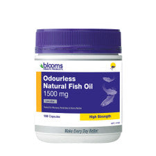 Blooms Odourless Natural Fish Oil 1500Mg 180C