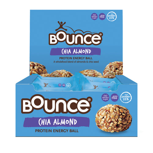 BOUNCE Energy Balls Chia Almond 42g x 12 Display