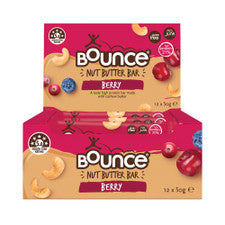 BOUNCE Nut Butter Bar Berry 50g x 12 pack