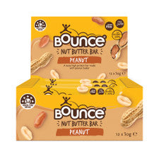 BOUNCE Nut Butter Bar Peanut 50g x 12 pack