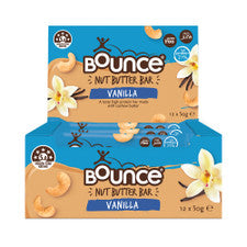 BOUNCE Nut Butter Bar Vanilla 50g x 12 pack