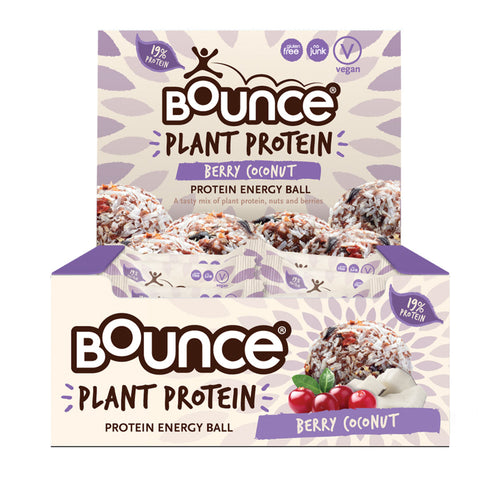 BOUNCE Planet Protein Energy Balls Berry Coconut 40g x 12 Display