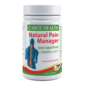 Cabot Health Natural Pain Manager (Green Lipped Mussel & Turmeric) 100C