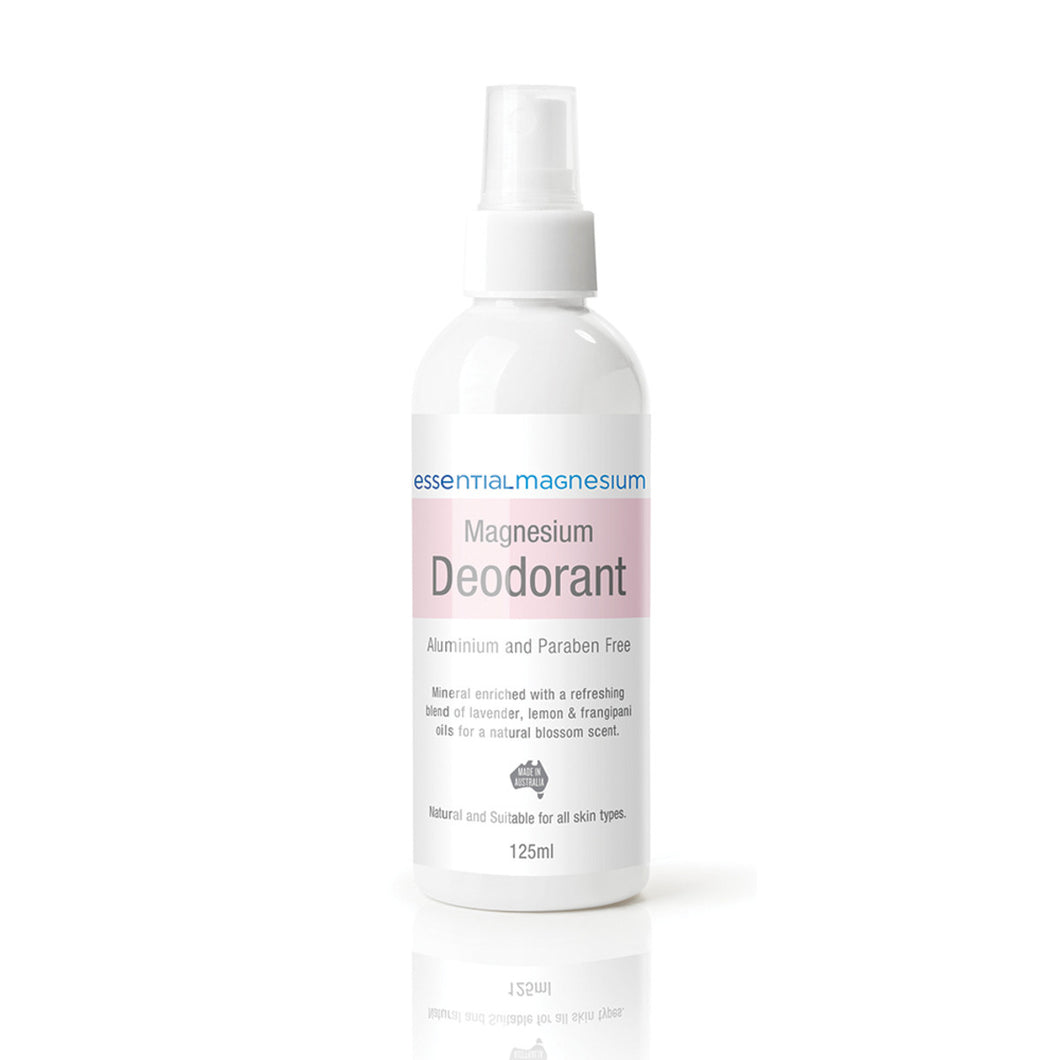 Essential Magnesium Magnesium Deodorant Lavender Lemon Frangipani (Pink Label) 125ml Spray
