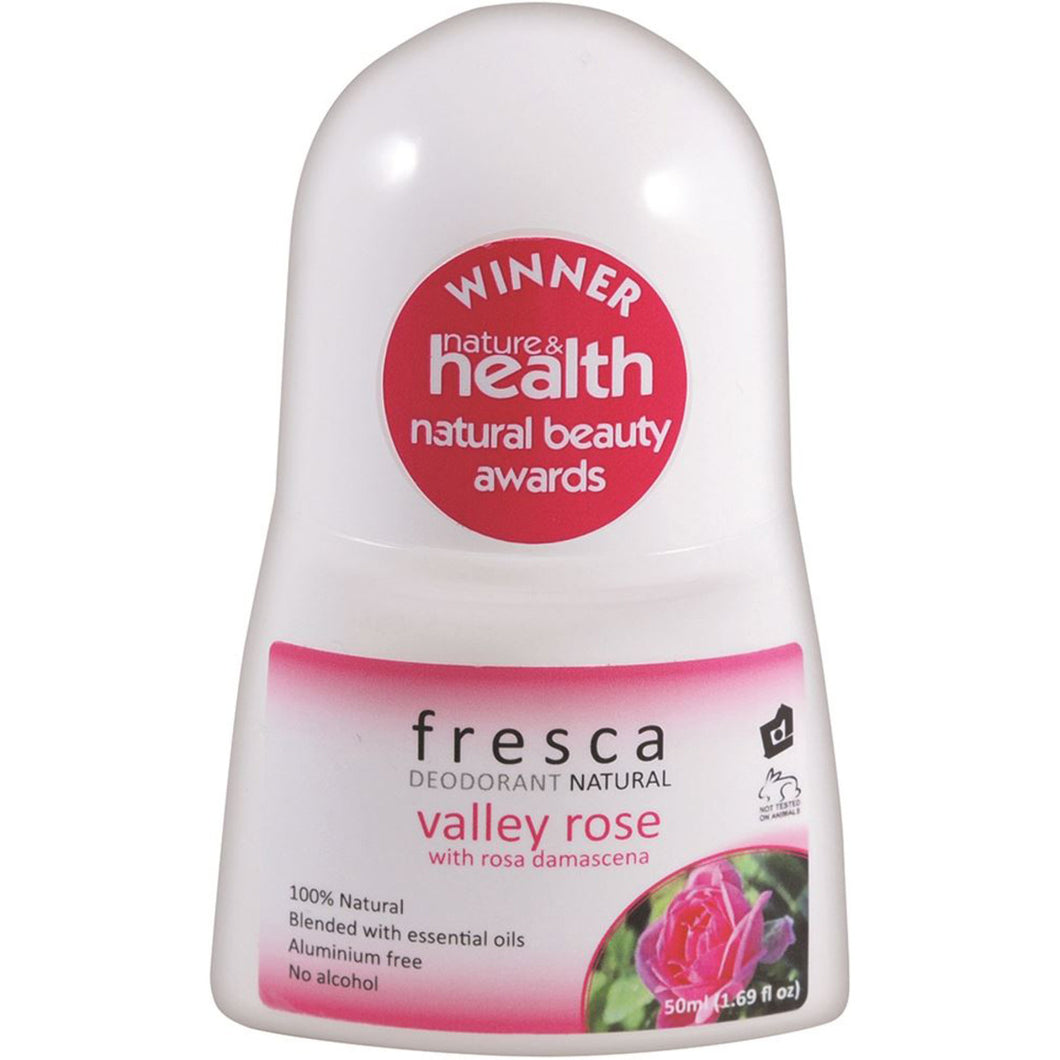 Fresca Natural Deodorant Valley Rose (With Rosa Damascena) 50ml