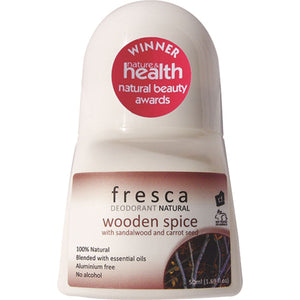 Fresca Natural Deodorant Wooden Spice (With Sandalwood & Carrot Oil) 50ml
