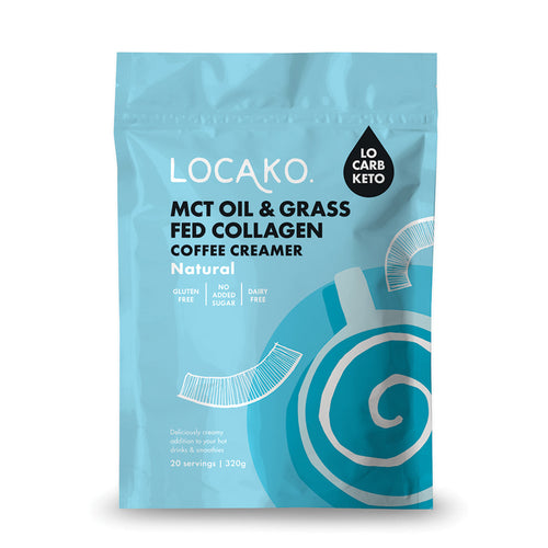 Loca Ko. Coffee Creamer Raw Natural Enriched With MCT Oil & Grass Fed Collagen 320g