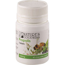 Nature's Goodness Propolis 1000mg Chewable 60t