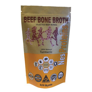 Nes Proteins Beef Bone Broth Turmeric 100g