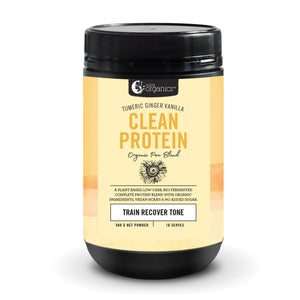 Nutraorganics Clean Protein Turmeric Ginger Vanilla 500G