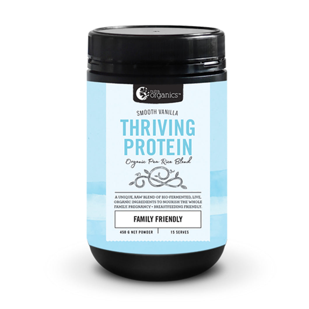 Nutraorganics Thriving Protein Smooth Vanilla 450G