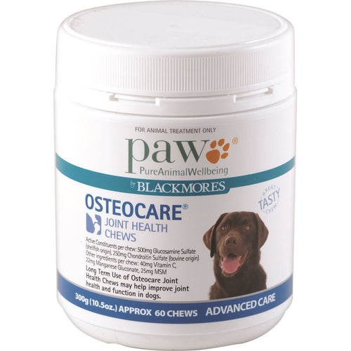 Paw Osteocare Joint Health Chews 300G (Approx. 60 Chews)