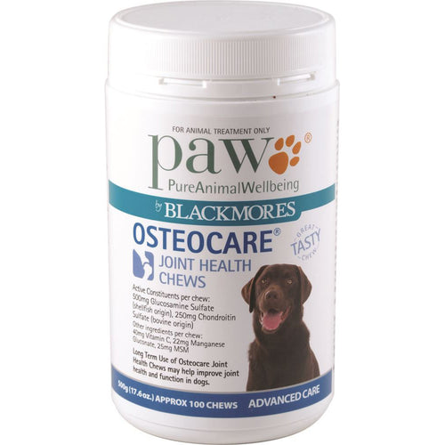 Paw Osteocare Joint Health Chews 500G (Approx. 100 Chews)