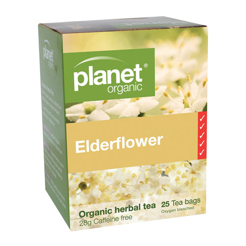 Planet Organic Tea Elderflower 25 Tea Bags