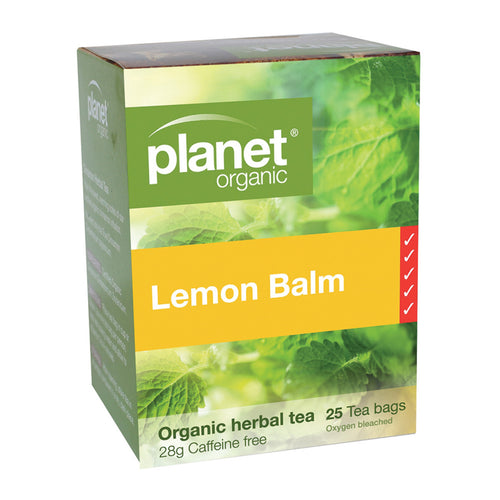 Planet Organic Tea Lemon Balm 25 Tea Bags