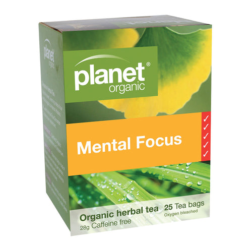Planet Organic Tea Mental Focus 25 Tea Bags