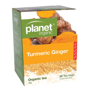 Planet Organic Turmeric and Ginger 25 tea bag 25bags
