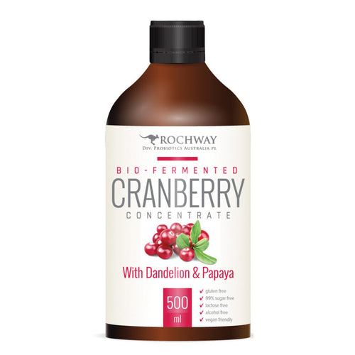 Rochway Bio-Fermented Cranberry Concentrate With Dandelion & Papaya 500ml