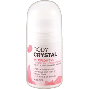 Body Crystal Crystal Roll On Deodorant Wildflowers 80ml
