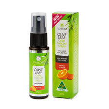 Vabori Olive Leaf Throat Spray Orange 25ml