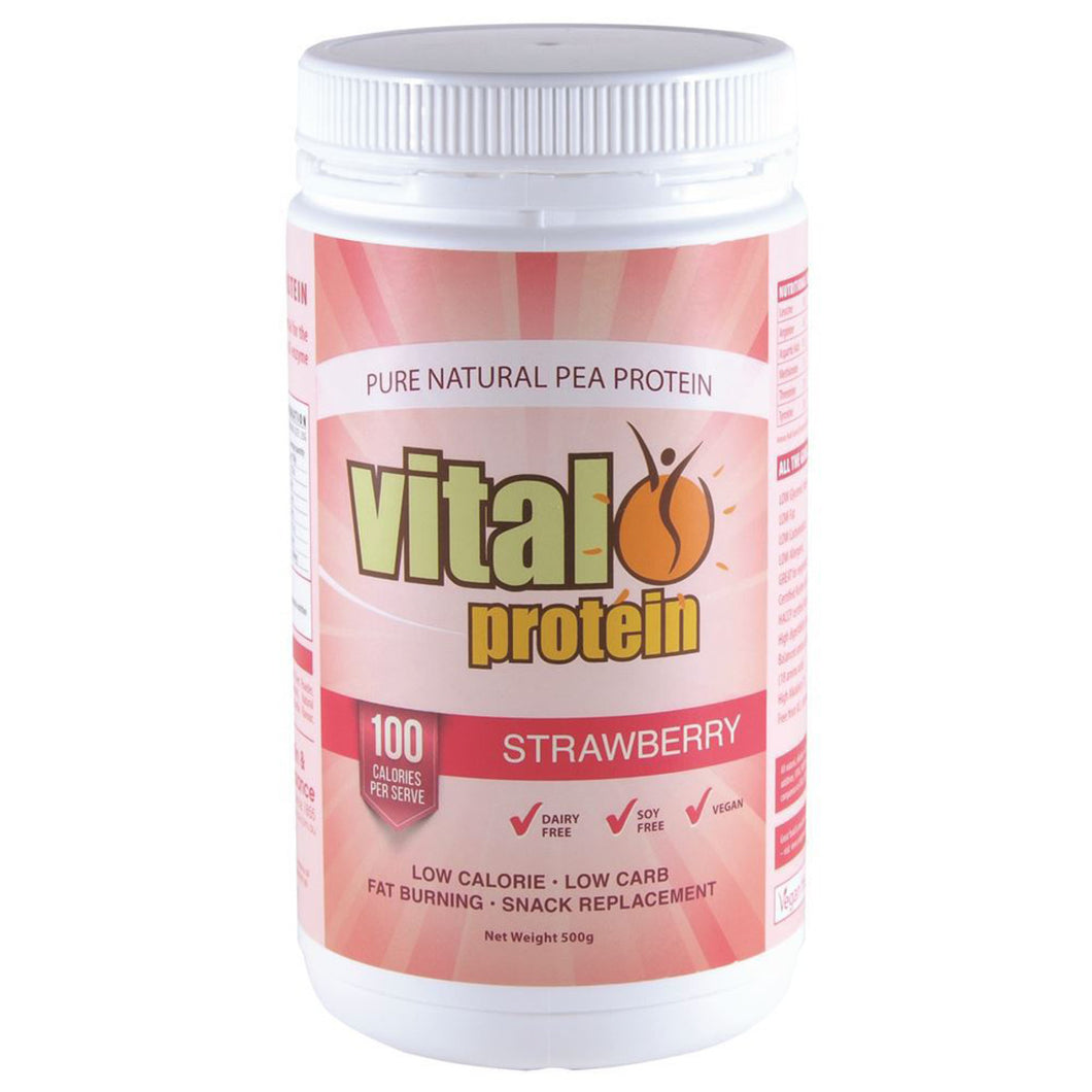 Vital Protein Pea Protein Isolate Strawberry 500G