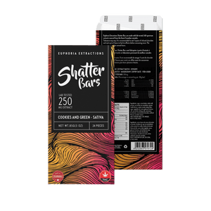 Chocolate Shatter Bars 500-1200mg THC - Euphoria Extractions