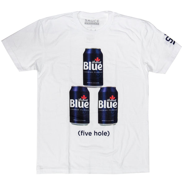 LABATT 5 HOLE TEE (WHITE)