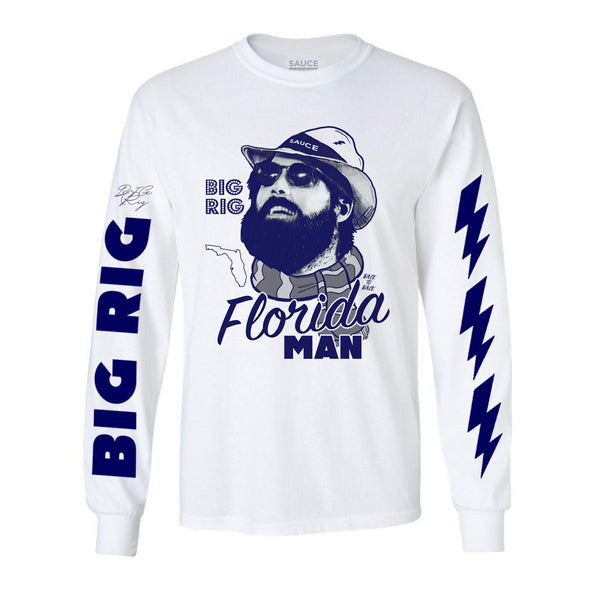FLORIDA MAN (WHITE L/S)