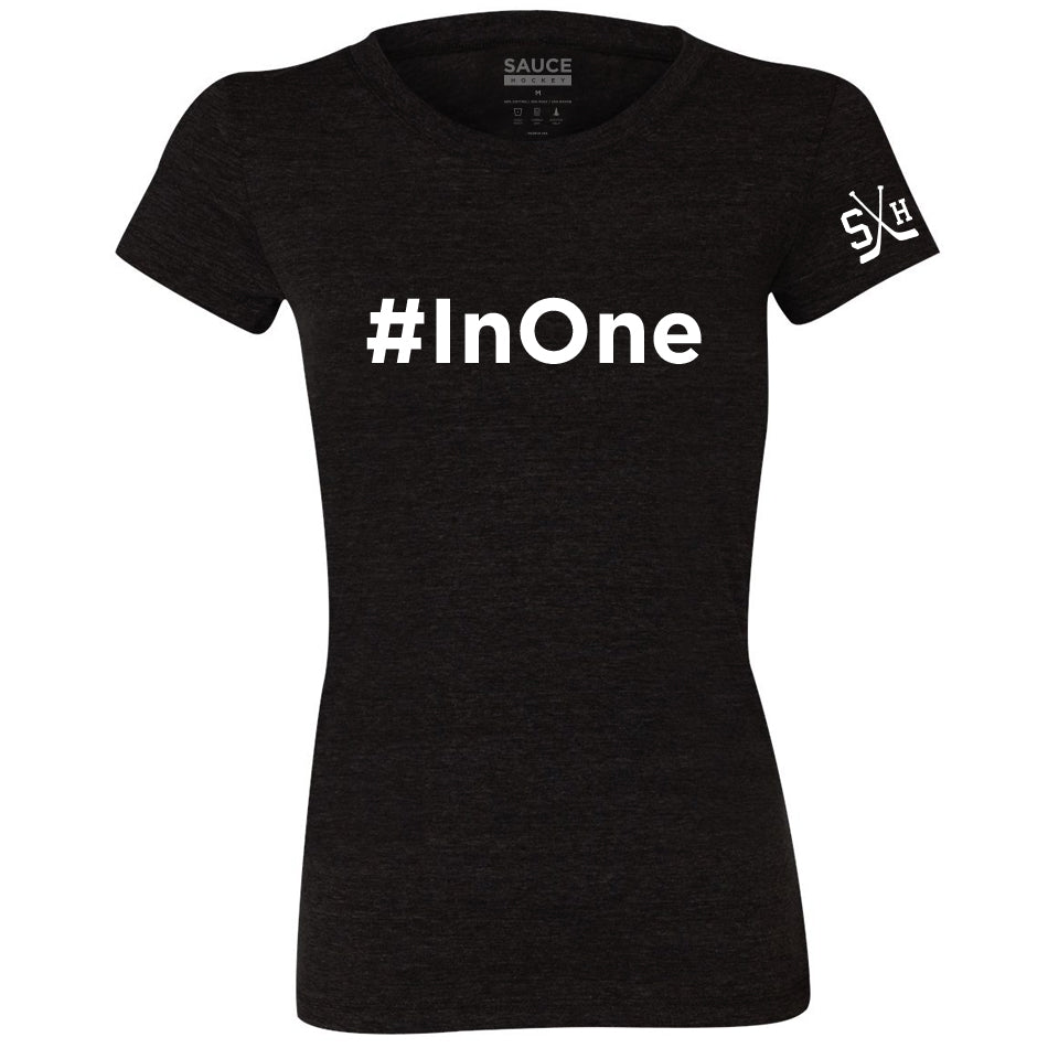 MIKE COMMODORE #InOne WOMEN'S TEE (BLACK)