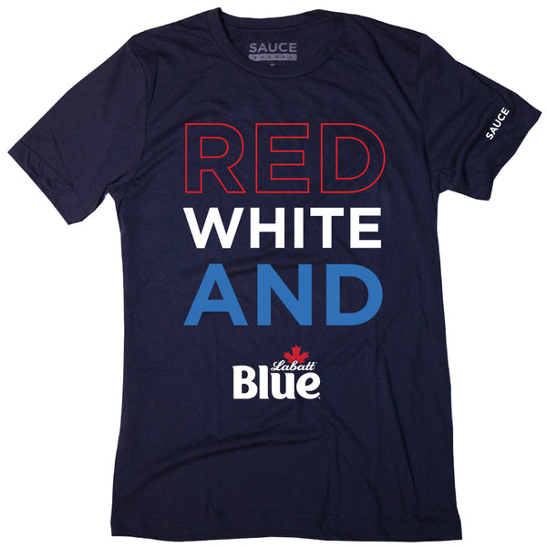 RED WHITE & BLUE TEE (NAVY)