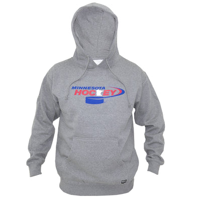 MN HOCKEY LOGO HOODIE (HEATHER GREY)