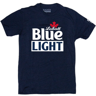 LABATT BLUE LIGHT LOGO TEE (HEATHER NAVY)