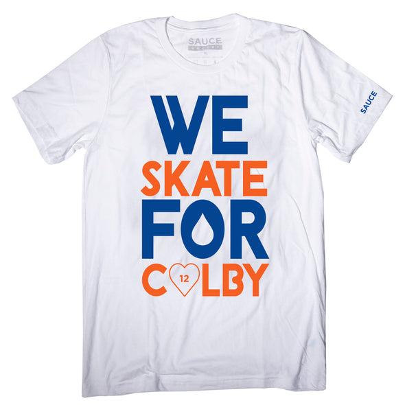 WE SKATE FOR COLBY TEE (WHITE)