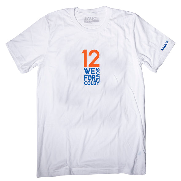 WE SKATE FOR COLBY 12 TEE (WHITE)