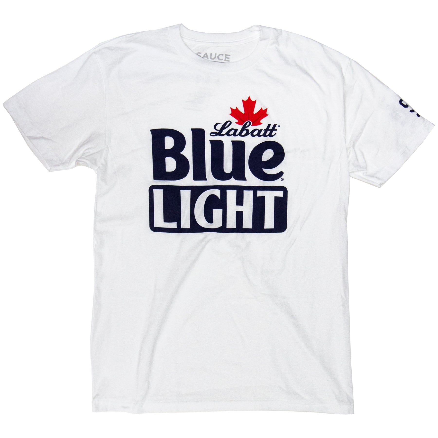 LABATT BLUE LIGHT LOGO TEE (WHITE)