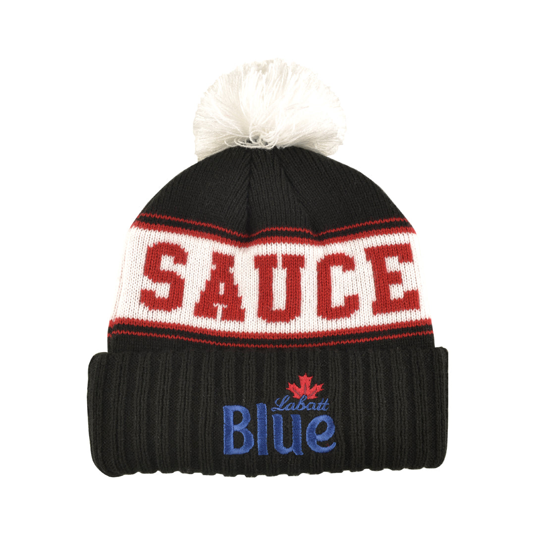 LABATT #SAUCELIFE TOQUE (BLACK + RED)