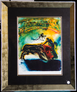"Lithograph: ""Tauromachie, Bull Fight II"" by Salvador Dalí"